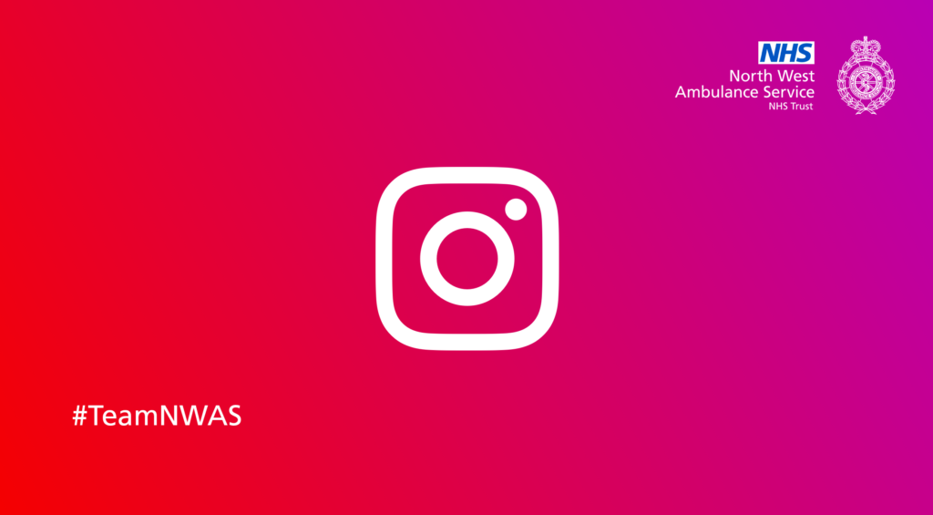 Instagram camera logo with NWAS crest.