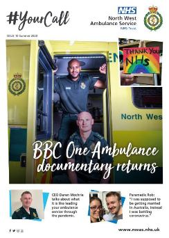 Front cover of Your Call showing two paramedics on an ambulance