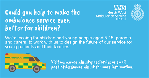 Can you help to make the ambulance service even better for children poster.