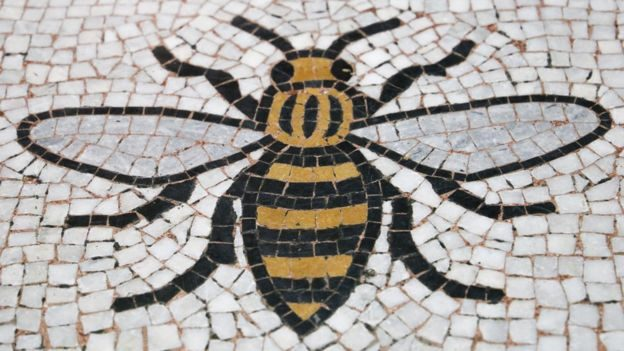 Bee logo for the Manchester Terrorist Attack