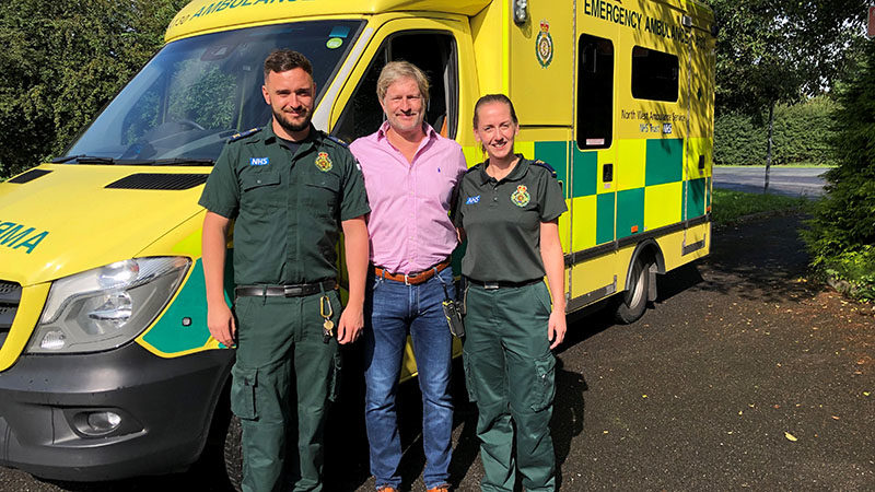 EMT Andy Utting Anthony Foster and Paramedic Lisa Carne-Ross