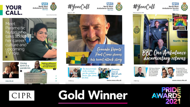 Celebrated for our magazine Your Call, we proudly took home a GOLD award at the regional PRide CIPR Awards, held virtually last night.